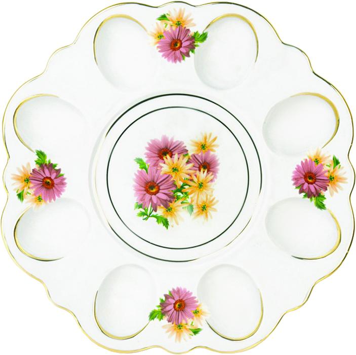 Блюдо для яиц Фарфор Вербилок Розовые герберы. 26351660УП набор для специй фарфор вербилок веселушки 37860000