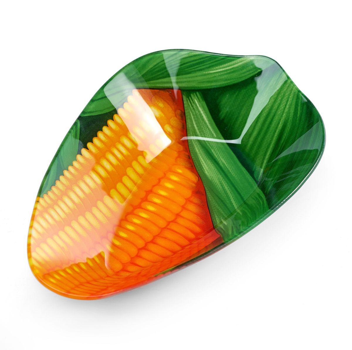 """Салатник Walmer """"Corn"""", цвет: зеленый, оранжевый, 16 x 25 см"""