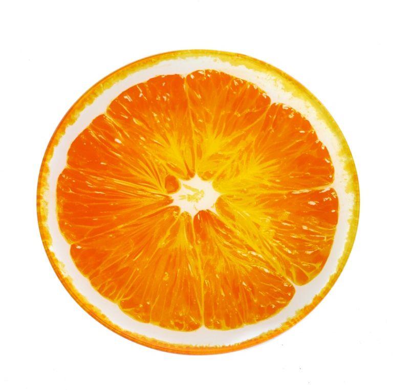 """Блюдо сервировочное Walmer """"Orange"""", цвет: оранжевый, диаметр 25 см"""