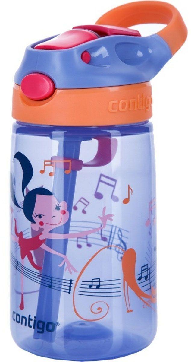 Contigo Детская бутылочка для воды Gizmo Flip цвет фиолетовый 420 мл бутылка для воды contigo autospout chug голубой 720 мл