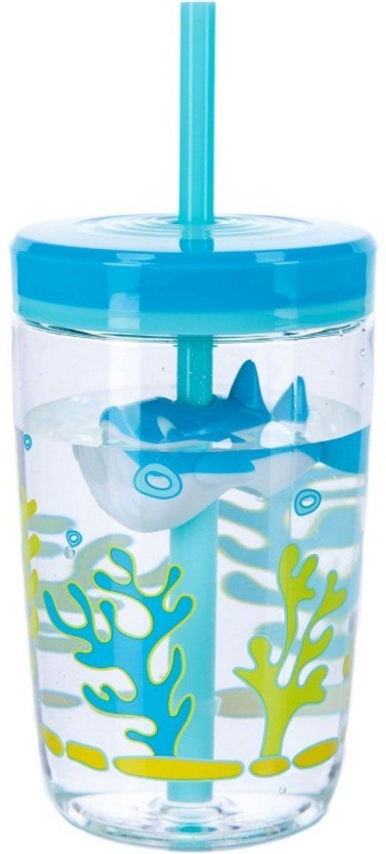 Contigo Детский стакан для воды Floating Straw Tumbler с трубочкой цвет голубой 470 мл tom ford tom ford noir парфюмерная вода спрей tom ford noir парфюмерная вода спрей