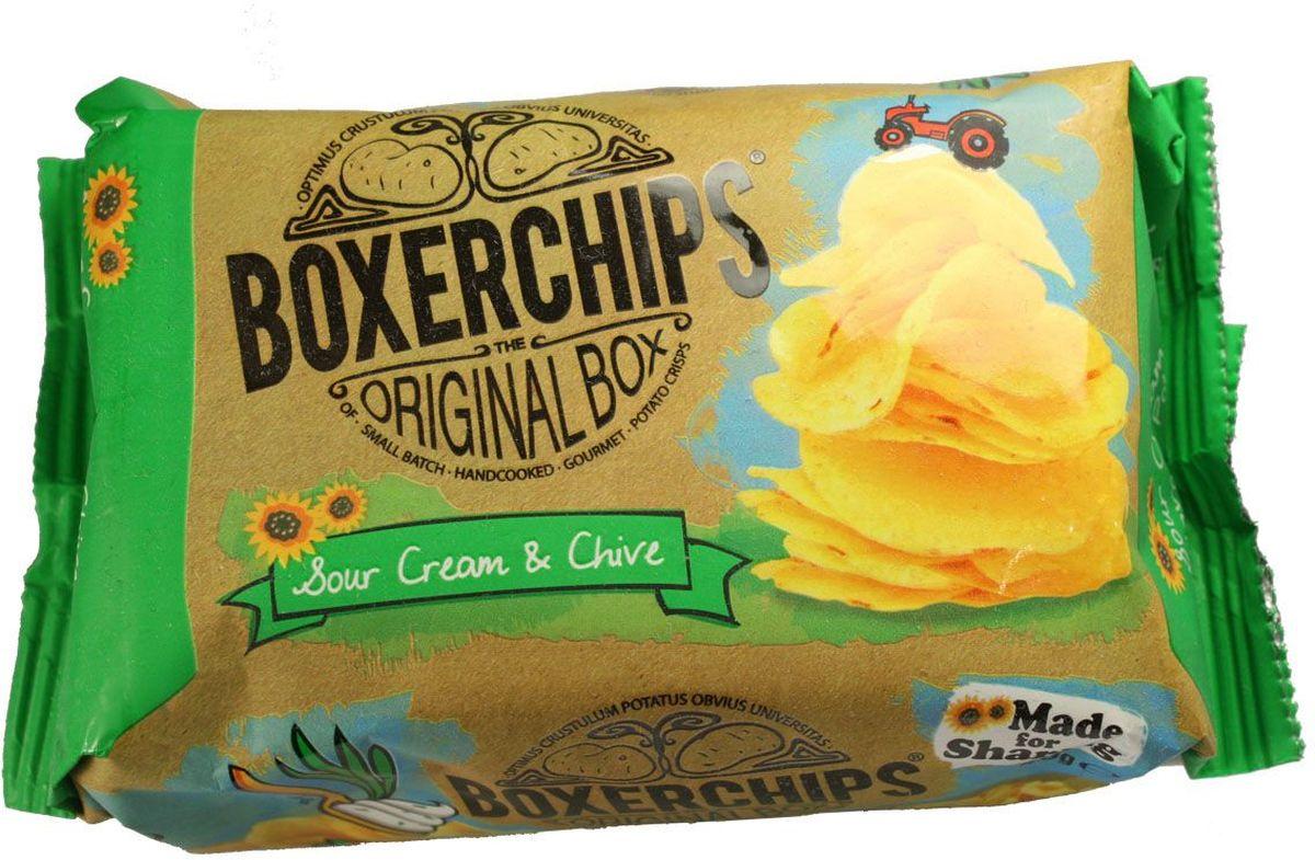 Boxerchips чипсы картофельные со сметаной и луком, 40 г чипсы картофельные русская картошка креветки 50 г