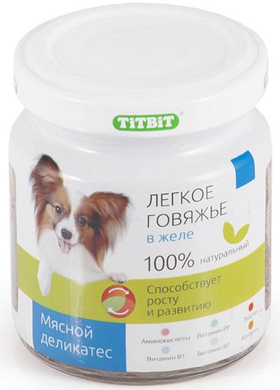 """Консервы """"Titbit"""" для собак, легкое говяжье в желе, 100 г"""