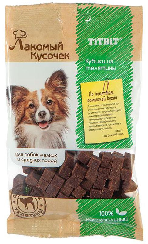 """Лакомство Titbit """"Кубики"""", для собак, из телятины, 80 г"""