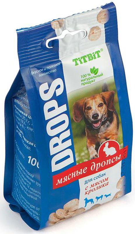 """Лакомство Titbit """"Дропсы"""", для собак, с мясом кролика, 100 г"""