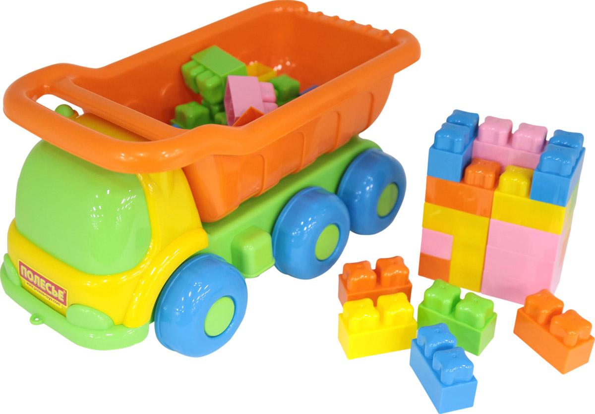 Набор Полесье №272 Самосвал Кеша + конструктор Малютка цвет в ассортименте игрушка полесье самосвал салют 8946