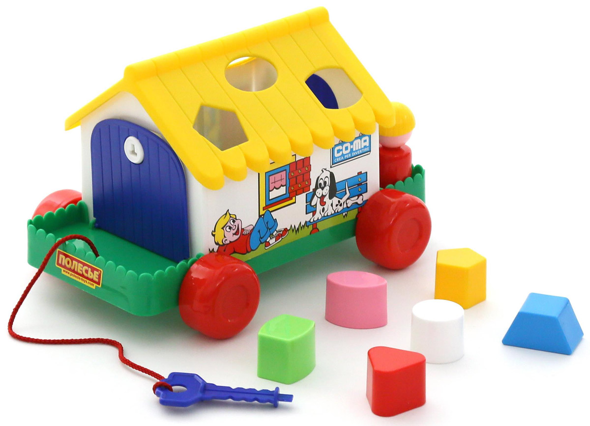 Полесье Сортер Игровой дом, цвет в ассортименте каталка сортер полесье игровой дом