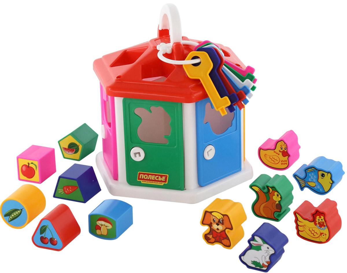 Полесье Сортер Логический домик, цвет в ассортименте сортер полесье логический домик