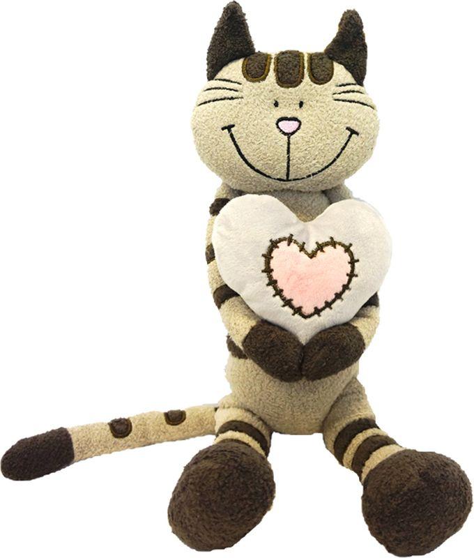Maxitoys Luxury Мягкая игрушка Кот Полосатик с сердцем 33 см