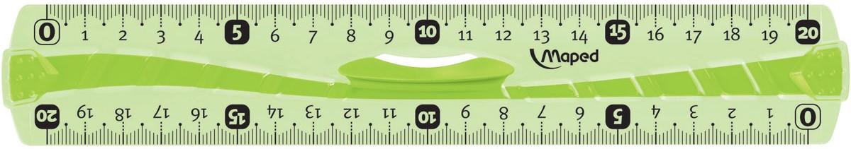 Maped Линейка Flex цвет зеленый 20 см линейка maped twist n flex неломающаяся цвет голубой 20 см
