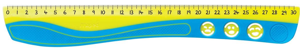 Maped Линейка Kidi Grip цвет желтый голубой 30 см линейка maped twist n flex неломающаяся цвет голубой 20 см