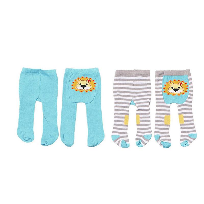 Baby Born Одежда для кукол Колготки цвет голубой 2 шт baby born пустышка для кукол
