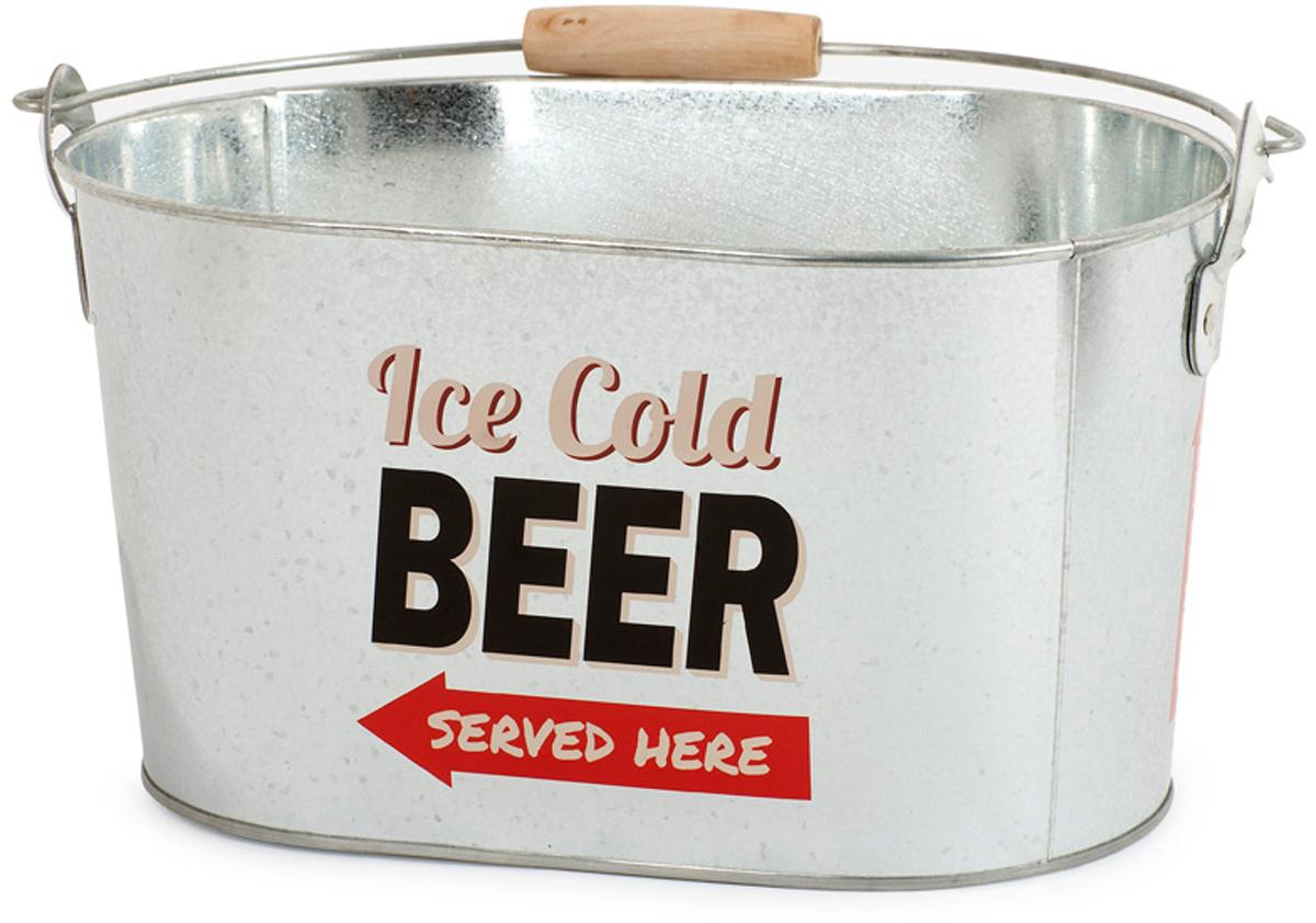 """Охладитель для напитков Balvi Party Time, серебристый25582Емкость """"Party Time"""" мгновенно охладит бутылочки с пивом и не даст льду быстро растаять. Емкость для охлаждения выполнена из прочного металла в форме овального ведерка с ручками. На боковой поверхности емкости предусмотрена открывалка для пива. С помощью емкости для охлаждения """"Party Time"""" вы забудете о мелких заботах и замечательно проведете время за приятной беседой с друзьями, попивая охлажденное пиво. - Емкость изготовлена из прочного металла. - На боковой поверхности есть открывалка для пивных бутылок. - Емкость подойдет для отдыха на природе большой компанией."""