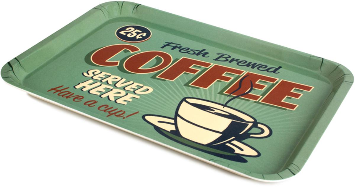 "Поднос Balvi ""Best Coffee"", цвет: зеленый"