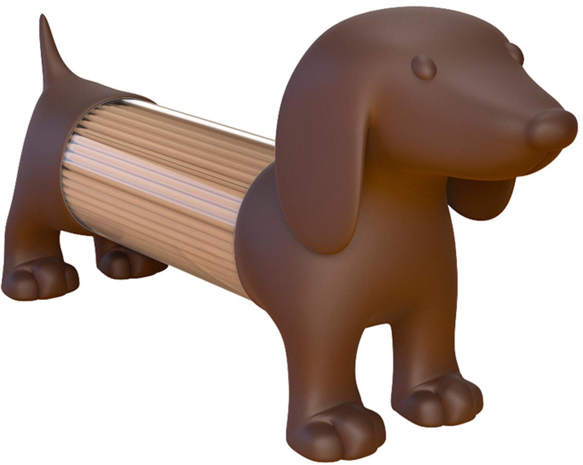 Емкость для специй или зубочисток Balvi Teckel, цвет: коричневый