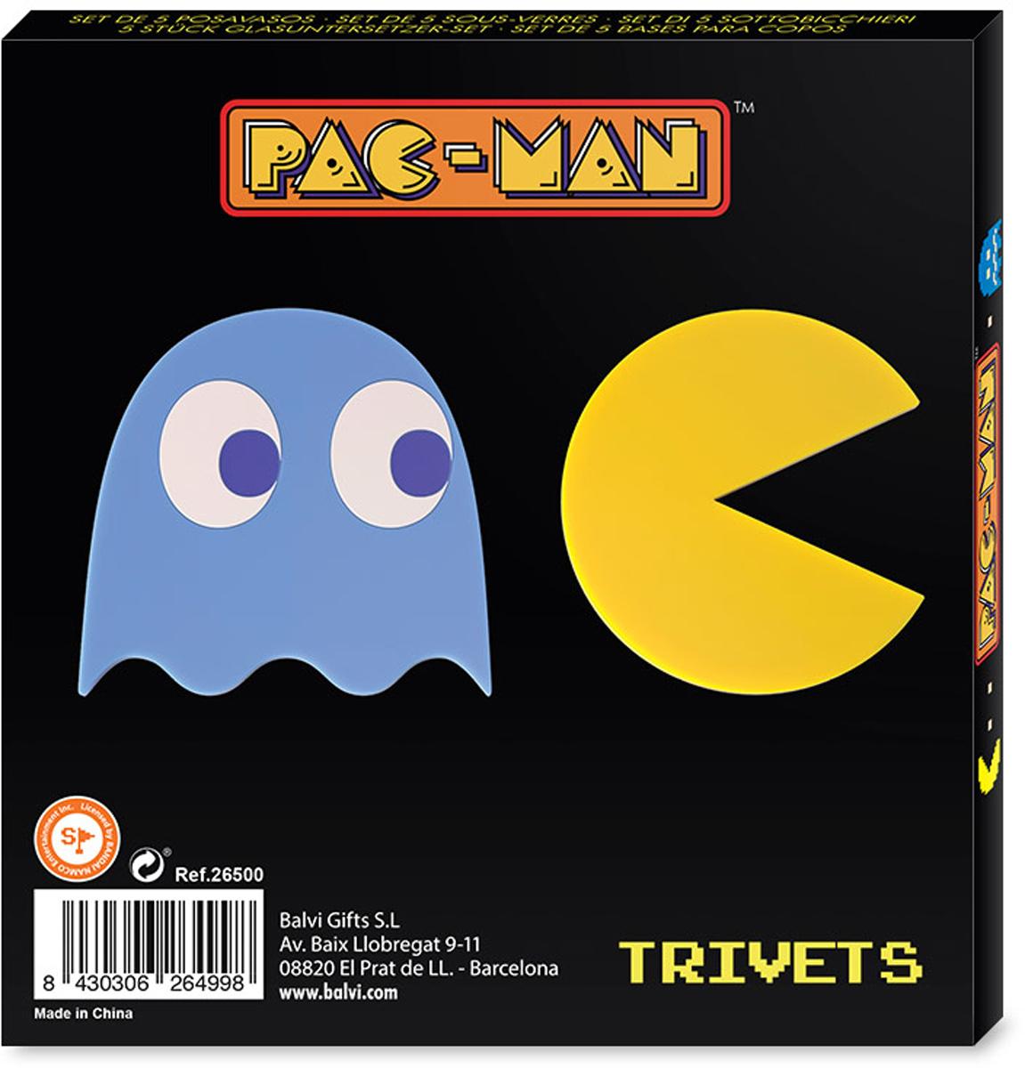 Подставка под горячее Balvi PacMan магнитная цвет  синий желтый 2 шт