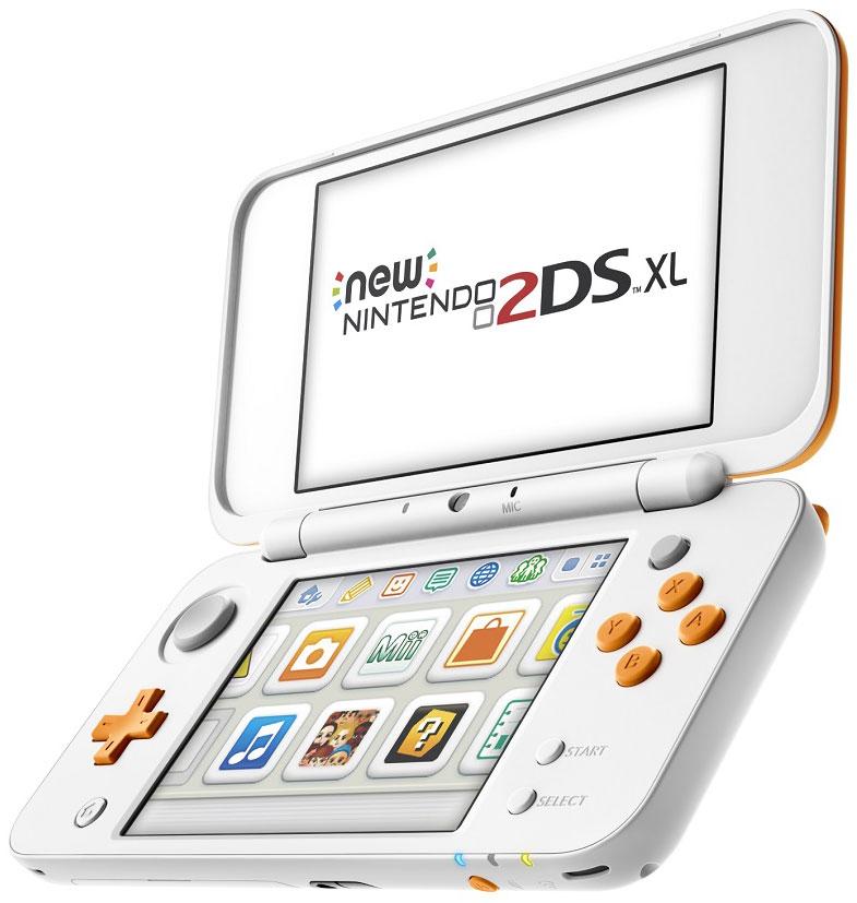 New Nintendo 2DS XL, White Orange портативная игровая приставка игровая приставка new nintendo 2ds xl black turquoise super mario 3d land