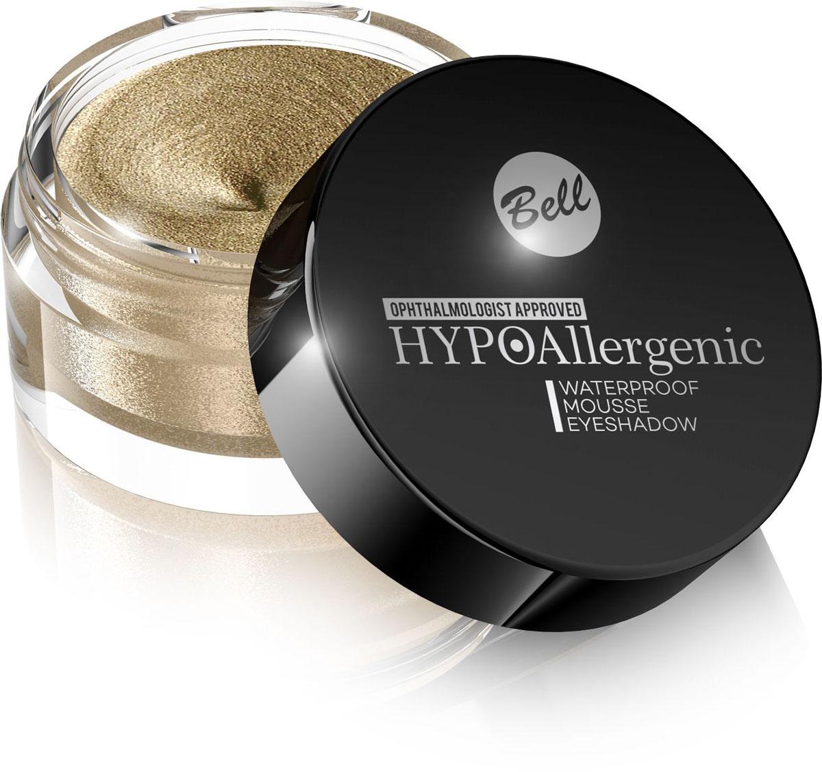 Bell Hypoallergenic Кремовые тени для век Waterproof Mousse Eyeshadow, Тон №02, 23 мл