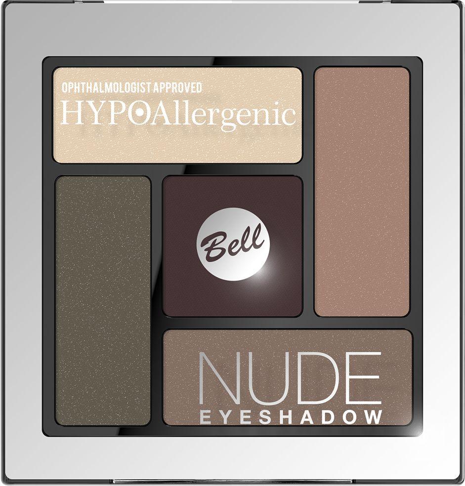 Bell Hypoallergenic Тени для век сатиново-кремовые Nude Eyeshadow, Тон №04