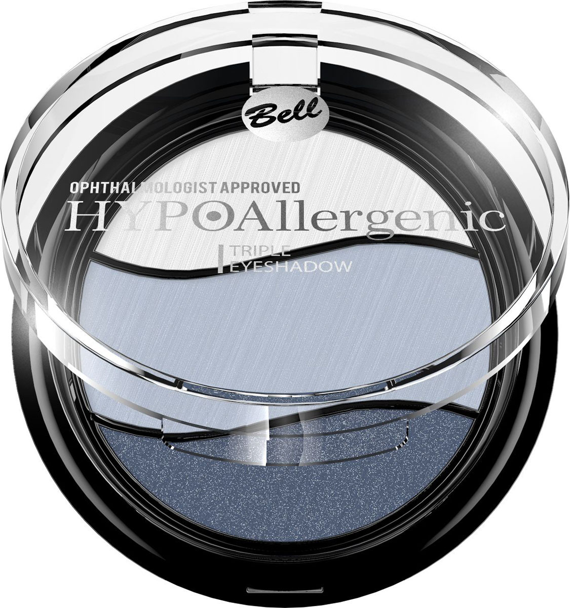 Bell Hypoallergenic Тени для век трехцветные, гипоаллергенные Triple Eyeshadow, Тон №03