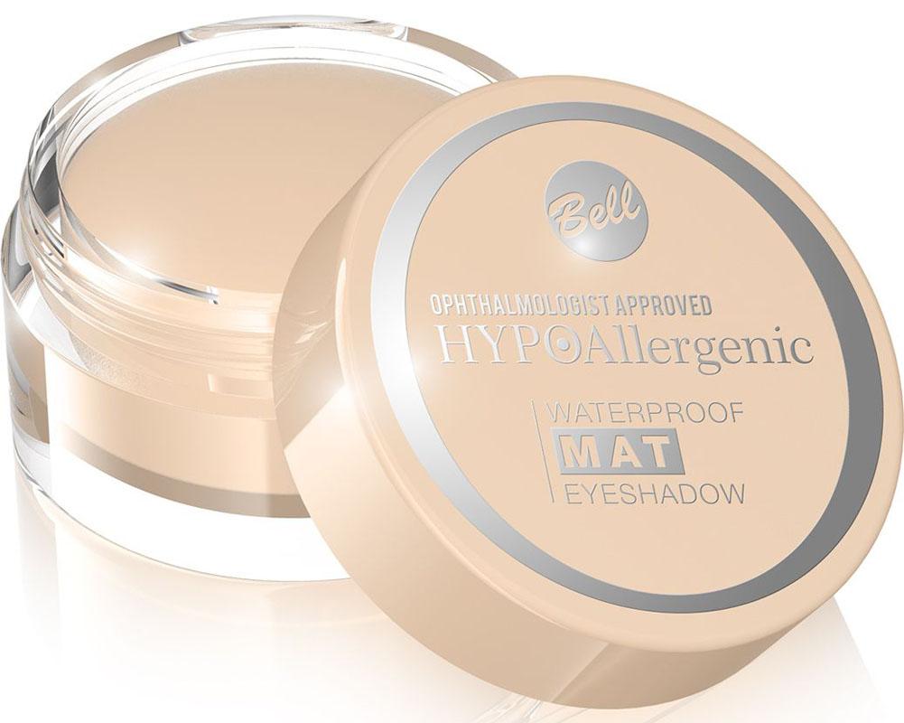 Bell Hypoallergenic Тени для век, водостойкие, матовые Waterproof Mat Eyeshadow, Тон №01