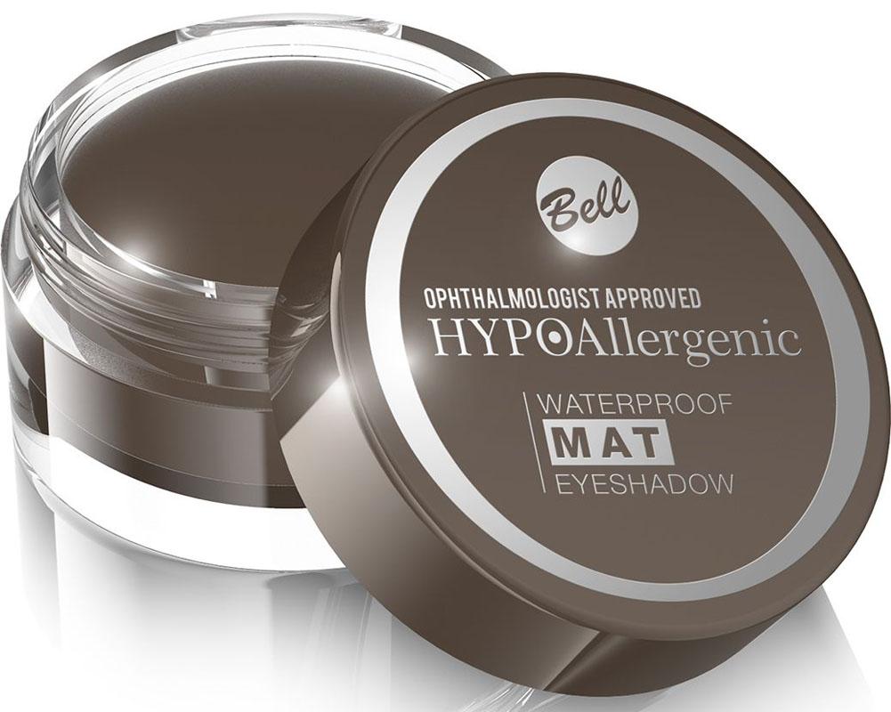 Bell Hypoallergenic Тени для век, водостойкие, матовые Waterproof Mat Eyeshadow, Тон №03