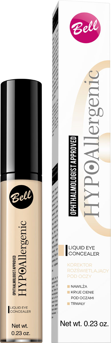 Bell Hypoallergenic Liquid Eye Concealer Корректор светоотражающий, гипоаллергенный, Тон №01, 6 мл bell hypoallergenic корректор маскирующий гипоаллергенный в стике skin stick concealer тон 02 4мл