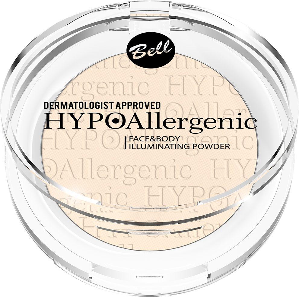 Bell Hypoallergenic Пудра для лица и тела придающая сияние гипоаллергенная Face&body Illuminating Powder, Тон №01