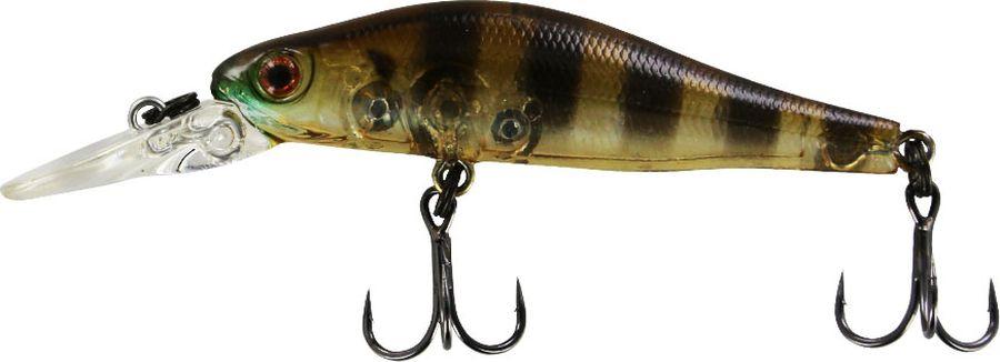 Воблер Tsuribito Jerkbait F-DR, цвет: желтый, черный (008), длина 50 мм, вес 3 г