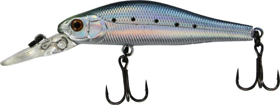Воблер Tsuribito Jerkbait F-DR, цвет: голубой, серый (060), длина 50 мм, вес 3 г воблер tsuribito jerkbait длина 5 см вес 3 1 г 50sp dr 036