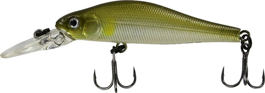Воблер Tsuribito Jerkbait F-DR, цвет: серебристый, зеленый (066), длина 50 мм, вес 3 г