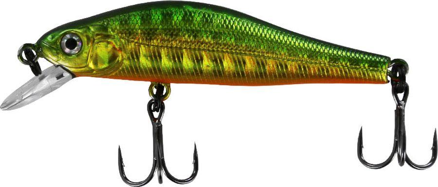 Воблер Tsuribito Jerkbait SP-SR, цвет: зеленый, серый, желтый (036), длина 50 мм, вес 3 г воблер tsuribito baby shark 70f цвет золотой серый сиреневый 080 длина 7 см 5 5 г