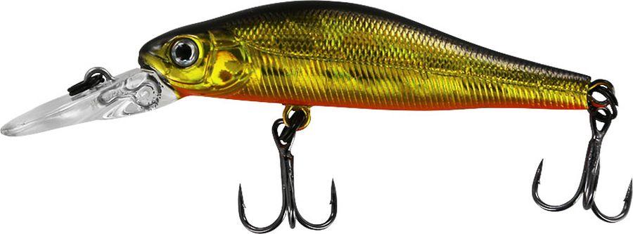 Воблер Tsuribito Jerkbait SP-DR, цвет: золотой, оранжевый (002), длина 50 мм, вес 3 г