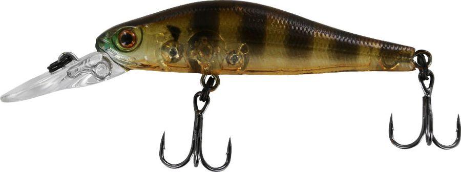 Воблер Tsuribito Jerkbait SP-DR, цвет: желтый, черный (008), длина 50 мм, вес 3 г