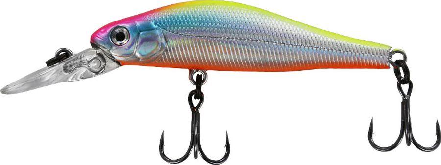 Воблер Tsuribito Jerkbait SP-DR, цвет: серебристый, оранжевый (057), длина 50 мм, вес 3 г