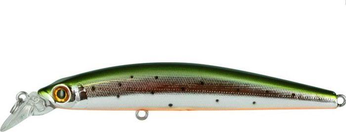 Воблер Tsuribito Minnow F, цвет: серебристый, зеленый (055), длина 95 мм, вес 9,6 г