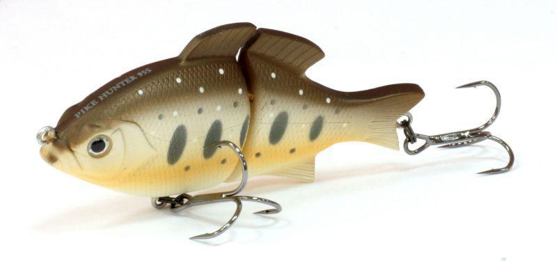 Воблер Tsuribito Pike Hunter S, цвет: темно-коричневый, бежевый (090), длина 95 мм, вес 22,5 г воблер tsuribito pike hunter s цвет бирюзовый серый 572 длина 95 мм вес 22 5 г