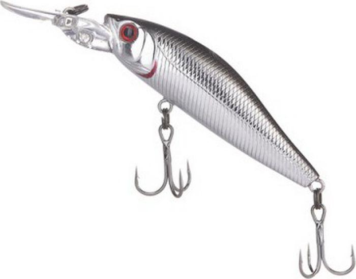 Воблер Tsuribito Deep Diver Minnow F, цвет: серебристый (011), длина 60 мм, вес 4,5 г