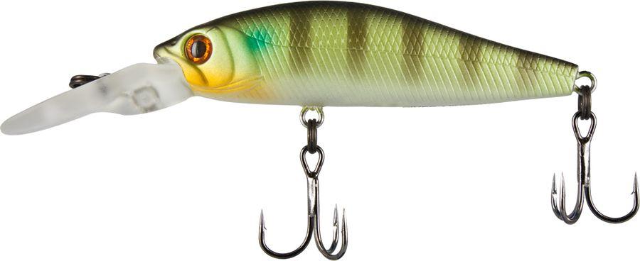 Воблер Tsuribito Deep Diver Minnow F, цвет: болотный, салатовый (091), длина 60 мм, вес 4,5 г
