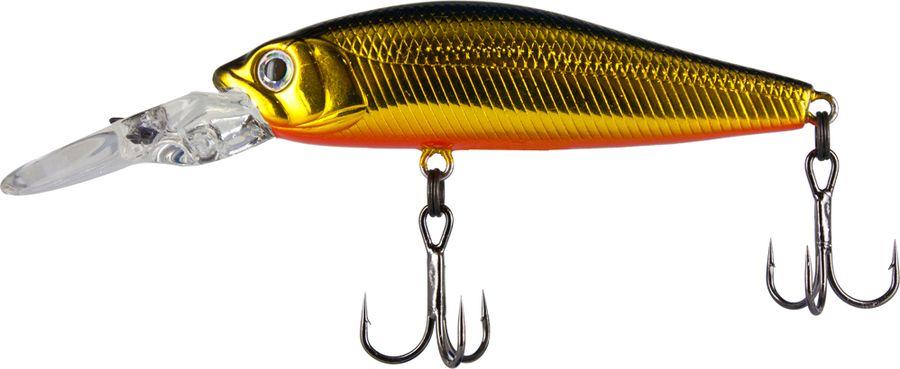 Воблер Tsuribito Deep Diver Minnow S, цвет: золотой, оранжевый (001), длина 60 мм, вес 6,2 г воблер tsuribito deep shaker 100f 002 длина 10 см вес 31 г 28895