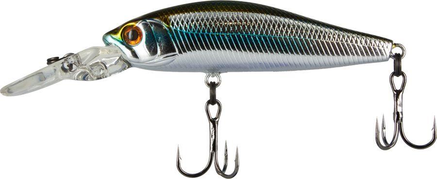 Воблер Tsuribito Deep Diver Minnow S, цвет: серебристый, золотой (035), длина 60 мм, вес 6,2 г