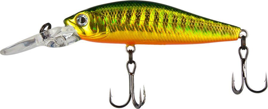 Воблер Tsuribito Deep Diver Minnow S, цвет: зеленый, серый, желтый (036), длина 60 мм, вес 6,2 г выключатель автоматический schneider electric resi9 2 полюса 10 a