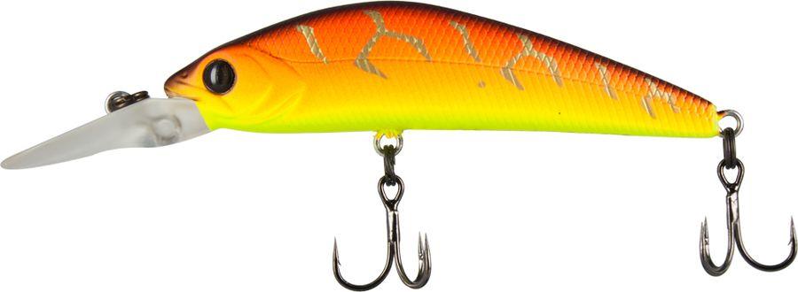 Воблер Tsuribito Live Minnow S, цвет: желтый, оранжевый (029), длина 55 мм, вес 6 г