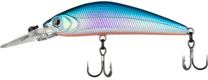 Воблер Tsuribito Live Minnow S, цвет: голубой (100), длина 65 мм, вес 8 г