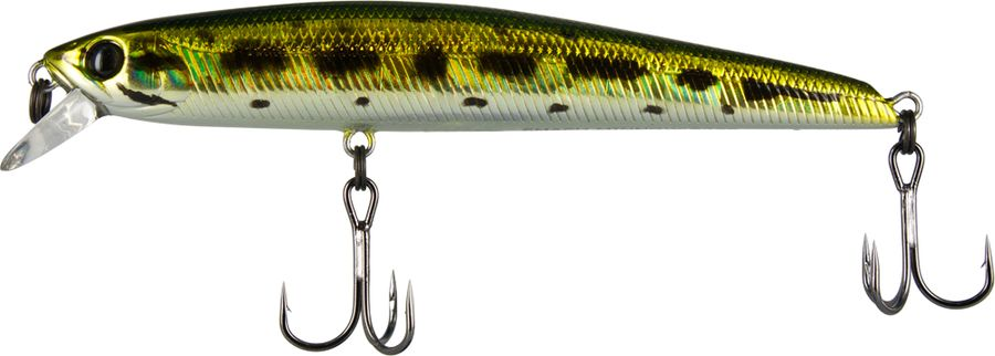 Воблер Tsuribito Smash Minnow SP, цвет: золотой, белый (013), длина 90 мм, вес 8 г приманка для рыбы tsuribito jackson рачок цвет розовый 5 8 см 8 шт