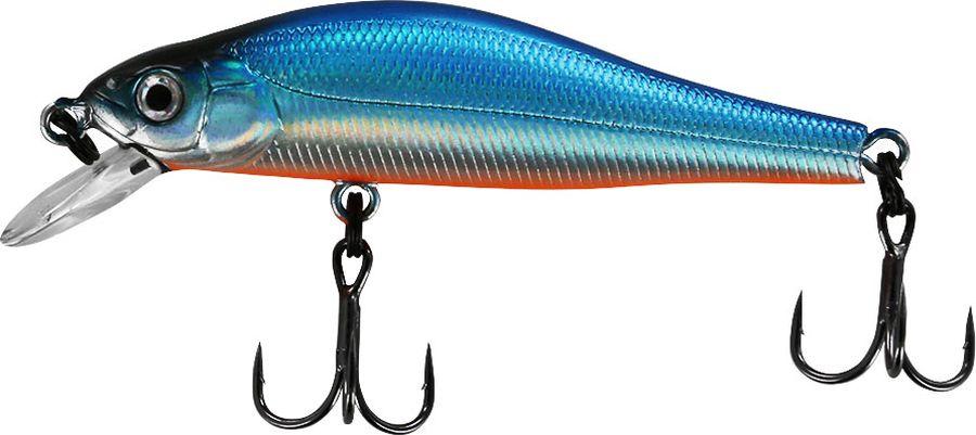 Воблер Tsuribito Jerkbait F-SR, цвет: голубой (100), длина 50 мм, вес 3 г50422Многим уже знаком 8 сантиметровый брат этого воблера, который очень эффективно ловит щуку. Младший брат размером 5 сантиметров отлично привлекает небольшую щуку, и в то же время, прекрасно соблазняет окуня, язя и голавля, что позволяет одной приманкой облавливать практически все небольшие водоёмы. Какая приманка для спиннинга лучше. Статья OZON Гид