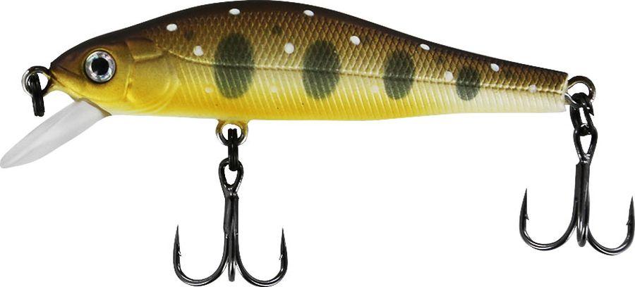 Воблер Tsuribito Jerkbait F-SR, цвет: темно-коричневый, бежевый (090), длина 50 мм, вес 3 г