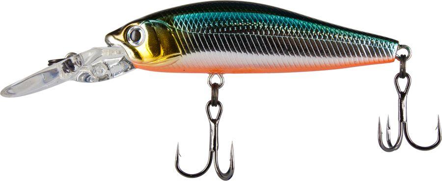 Воблер Tsuribito Deep Diver Minnow S, цвет: бирюзовый, серый (504), длина 60 мм, вес 6,2 г воблер tsuribito pike hunter s цвет бирюзовый серый 572 длина 95 мм вес 22 5 г