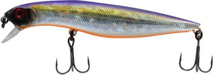 Воблер Tsuribito Dead Minnow SS, цвет: фиолетовый, желтый, серый (072), длина 70 мм, вес 7,5 г
