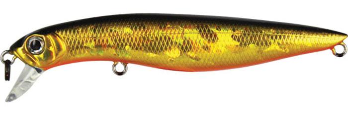 Воблер Tsuribito Dead Minnow SS, цвет: золотой, оранжевый (002), длина 90 мм, вес 11,7 г